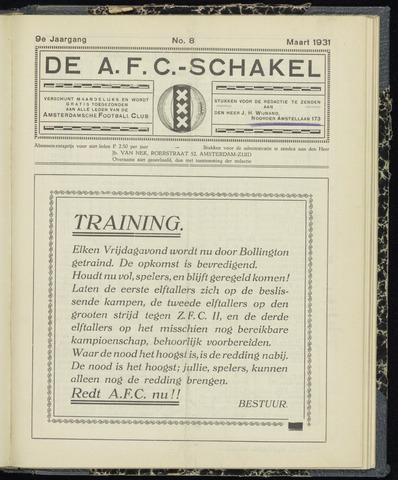 Schakels (clubbladen) 1931-03-01