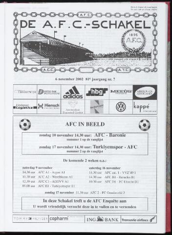 Schakels (clubbladen) 2002-11-06