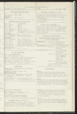 Bulletins (vnl. opstellingen) 1958-03-25