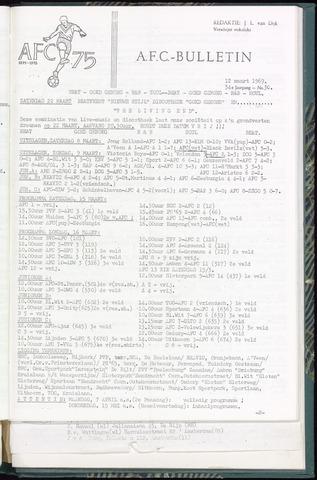 Bulletins (vnl. opstellingen) 1969-03-12
