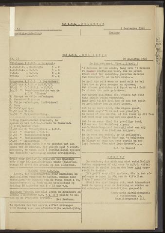 Bulletins (vnl. opstellingen) 1946-08-28