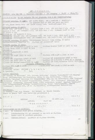 Bulletins (vnl. opstellingen) 1967-04-26