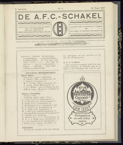Schakels (clubbladen) 1927-03-25
