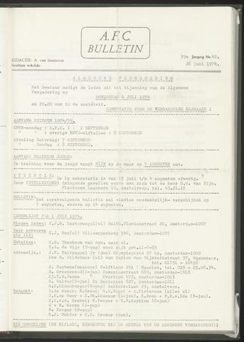 Bulletins (vnl. opstellingen) 1974-06-26