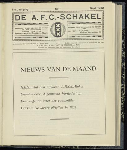 Schakels (clubbladen) 1932-09-01