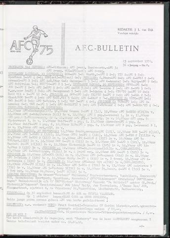 Bulletins (vnl. opstellingen) 1970-09-23