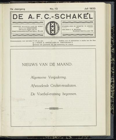 Schakels (clubbladen) 1933-07-01