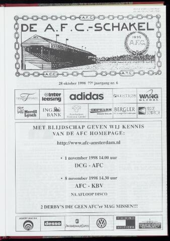 Schakels (clubbladen) 1998-10-28