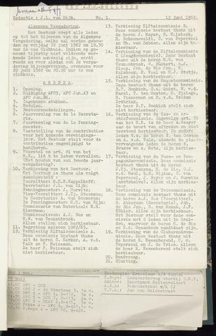 Bulletins (vnl. opstellingen) 1962-06-12