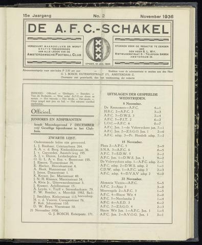 Schakels (clubbladen) 1936-11-01