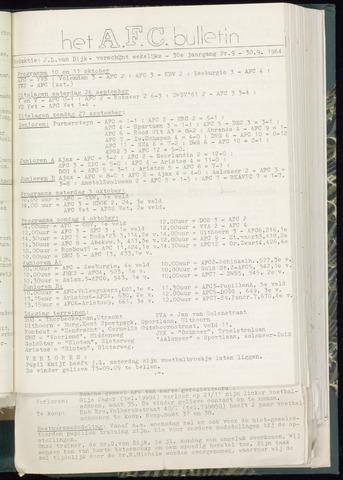 Bulletins (vnl. opstellingen) 1964-09-30