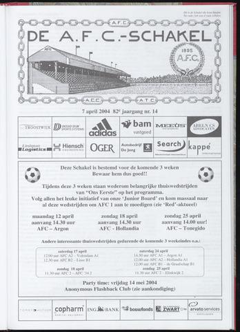 Schakels (clubbladen) 2004-04-07