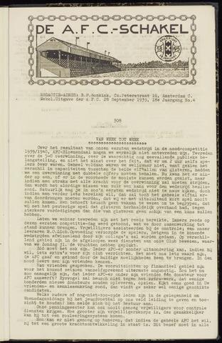 Schakels (clubbladen) 1939-09-28