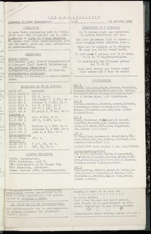 Bulletins (vnl. opstellingen) 1959-01-21