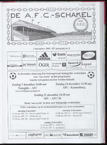 Schakels (clubbladen) 2003-12-03