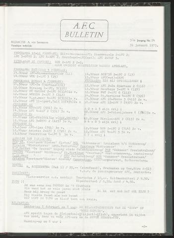 Bulletins (vnl. opstellingen) 1973-01-31