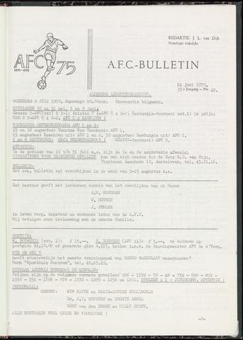 Bulletins (vnl. opstellingen) 1970-06-24