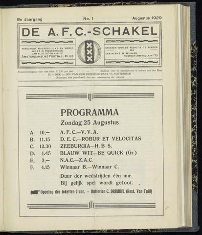 Schakels (clubbladen) 1929-08-01