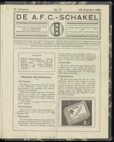 Schakels (clubbladen) 1925-08-22