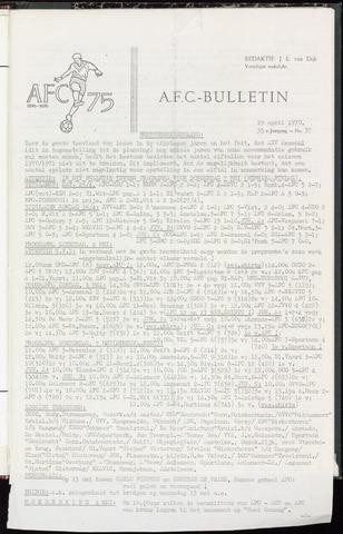 Bulletins (vnl. opstellingen) 1970-04-29
