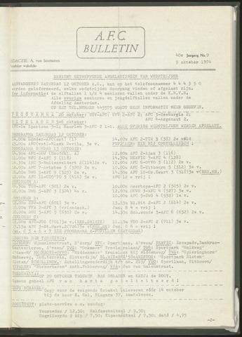 Bulletins (vnl. opstellingen) 1974-10-09