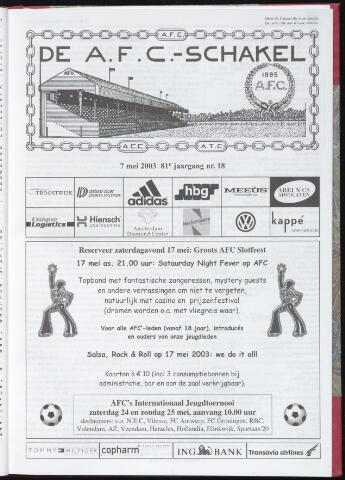 Schakels (clubbladen) 2003-05-07