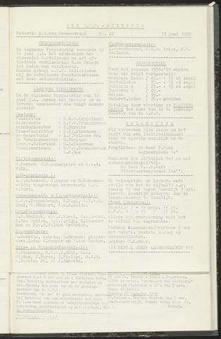 Bulletins (vnl. opstellingen) 1958-06-17