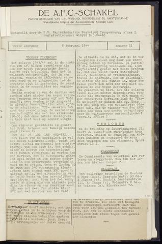 Schakels (clubbladen) 1944-02-03