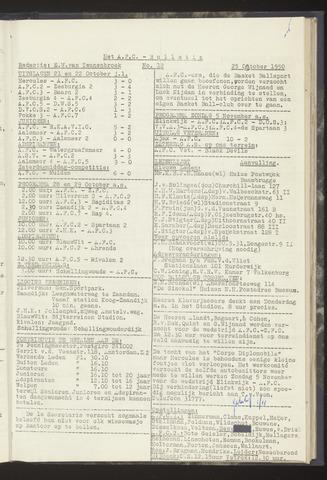 Bulletins (vnl. opstellingen) 1950-10-25