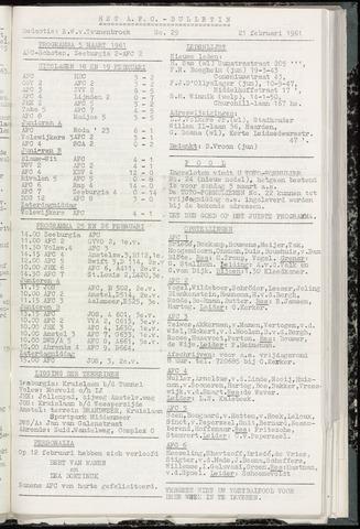 Bulletins (vnl. opstellingen) 1961-02-21