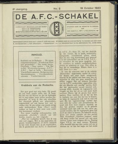 Schakels (clubbladen) 1923-10-19