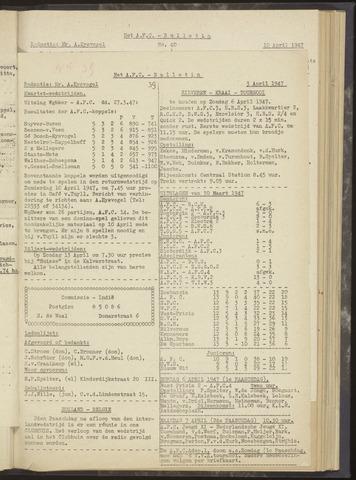 Bulletins (vnl. opstellingen) 1947-04-03