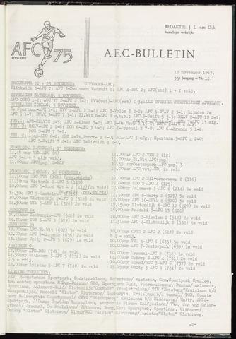 Bulletins (vnl. opstellingen) 1969-11-12