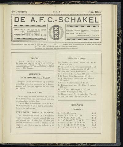 Schakels (clubbladen) 1930-11-01