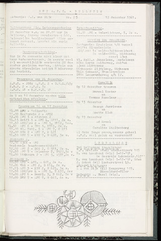 Bulletins (vnl. opstellingen) 1961-12-12