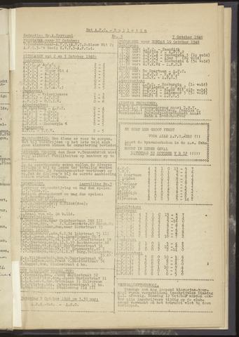 Bulletins (vnl. opstellingen) 1948-10-07