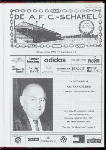 Schakels (clubbladen) 1998-09-30