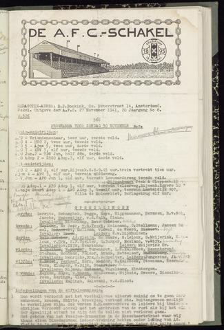 Schakels (clubbladen) 1941-11-27