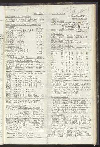 Bulletins (vnl. opstellingen) 1949-12-21