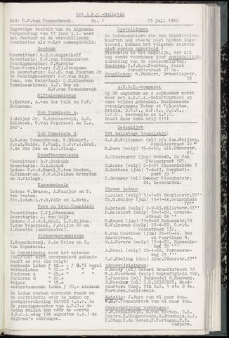 Bulletins (vnl. opstellingen) 1960-07-13