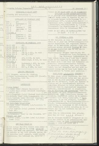 Bulletins (vnl. opstellingen) 1957-02-19