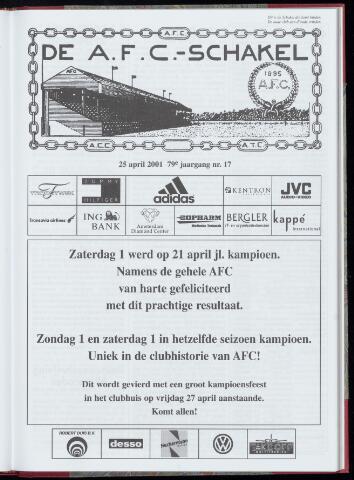 Schakels (clubbladen) 2001-04-25