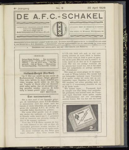 Schakels (clubbladen) 1926-04-30