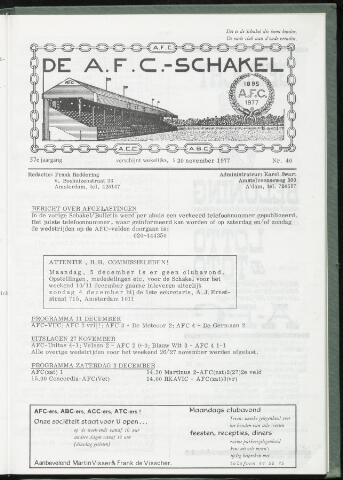 Schakels (clubbladen) 1977-11-30