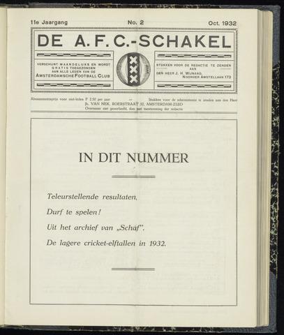 Schakels (clubbladen) 1932-10-01