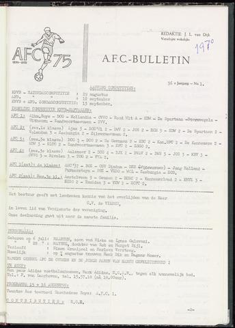 Bulletins (vnl. opstellingen) 1970-07-01