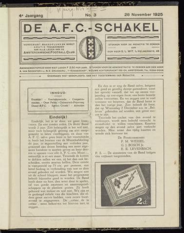 Schakels (clubbladen) 1925-11-28