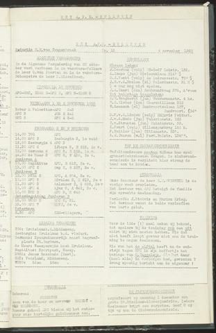 Bulletins (vnl. opstellingen) 1958-11-04