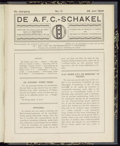 Schakels (clubbladen) 1928-06-26