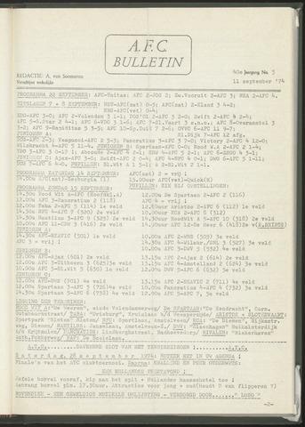 Bulletins (vnl. opstellingen) 1974-09-11